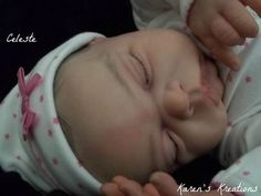 Reborn baby girl doll newborn sized CELESTE ~Karen's Kreations~