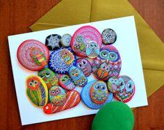 Me dell'Adriatico de Sassi - tarjeta de felicitación - piedras pintadas mezcla-