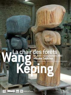 wood figures  wang keping