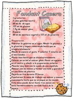 Tartas, Galletas Decoradas y Cupcakes: Fondant Casero