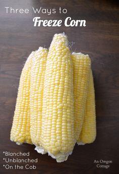 Freezing Fresh Corn, Freezing Fruit, Freezing Vegetables, Frozen Vegetables, Freezing Carrots, Freezing Basil, Canning Vegetables, Veggies, Recipes