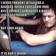 Norman Reedus (Daryl Dixon) pic from The Walking Dead. Hands down the best character from the show - and he's not even in the comics :'( Carl The Walking Dead, Walking Dead Memes, Daryl Dixon Memes, Darryl Dixon, Dead Zombie, All That Matters, My Demons, Fandoms, Raining Men