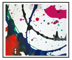 abstract painting science art concept original contemporary art orange blue pink green black white home decor - Collider by Robert McConvey White Home Decor, Hand Painting Art, Science Art, White Houses, Original Artwork, Original Paintings, Gouache, Contemporary Art, Artworks