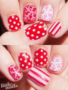 Christmas nail art ~ by little nails