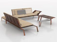 wabi sabi interior collection on Behance Built In Furniture, Furniture Decor, Furniture Design, Outdoor Furniture, Outdoor Chairs, Outdoor Decor, Wabi Sabi, Dining Bench, Sofas