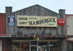 Denton County Independent Hamburger Company- Best of Texas Denton County, Denton Texas, Texas Legends, University Of North Texas, Texas History, Texas Travel, Cool Bars, Travel And Tourism, Fort Worth