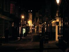 Hastings Old Town at Night, East Sussex, Great Britain