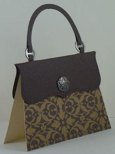 Cat's Ink.Corporated: Pat Carr's Stamp Camp April 2013 - Shoebox Swap - Handbag