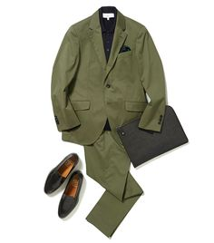 Khaki Suits, Cotton Suit, Bespoke, Military Jacket, Menswear, French, Mens Fashion, Orange, My Style