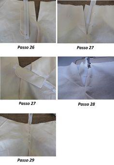 Aplicação de zíper em calça de alfaiataria feminina
