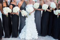 Modern, glamorous black, white & grey wedding by Captured Photography by Jenny via Floridian Weddings