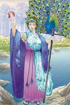Hera (Oudgrieks: Ἧρα, Hêra; Ἧρη, Hêrê; Myceens: e-ra) is een godin uit de Griekse mythologie. Zij is de dochter van de titanen Kronos en Rheia, en daarmee de zuster van Zeus, de koning van hemel en aarde, en is tevens diens echtgenote. Hera was de godin van het huwelijk.