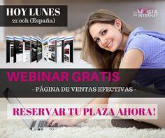 Buenos dias¡ Hoy es lunes de WEBINAR. El tema de hoy es ----Página de ventas efectivas--- 2PM horario de Mexico Reserva tu lugar ahora¡  ✔ http://lamagiadeinternet.net/reserva-hangout/?aid=Jesi #webinar #marketing