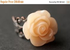 HALLOWEEN SALE Apricot Rose Ring. Light Peach Flower Ring. Gold Ring. Silver Ring. Bronze Ring. Copper Ring. Adjustable Ring. Handmade Jewel by StumblingOnSainthood from Stumbling On Sainthood. Find it now at http://ift.tt/2dA14Zs!