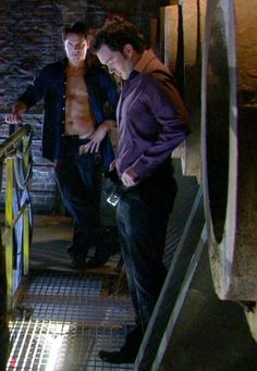 Captain Jack Harkness and Ianto Jones (Naked hide-and-seek, he cheats, he always cheats. Gareth David Lloyd, Beaux Couples, Captain Jack Harkness, Bbc Tv Series, John Barrowman, Everything Changes, Gay, Peter Capaldi, Torchwood