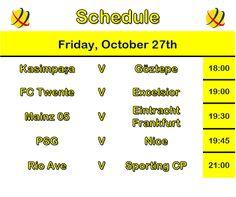 Café y Fútbol: Schedule