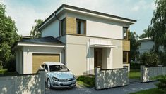 Case moderne cu etaj. Locuinte de vis pana in 200 metri patrati - Case practice Archi Design, Two Story Homes, Second Story, Story House, Close Image, House Plans, How To Plan, Arrow Keys, House Ideas