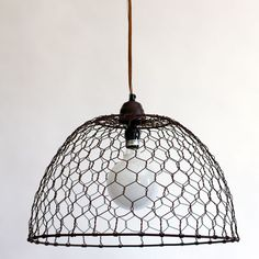 Corner lighting  Chicken Wire Basket Pendant Lamp