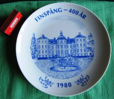 Hackefors Sweden 1980 FINSPANG 400 Years AURORA TEMPLET 500 ex.Wall plate plaque