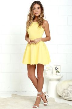 2018 New Style Yellow A-Line Homecoming Dresses,Spaghetti Straps Mini Graduation Party Dresses from SofieDress 2018 New Style Yellow A-Line Homecoming Dresses, Spaghetti Straps Mini Graduation Gowns Yellow Homecoming Dresses, Hoco Dresses, Pretty Dresses, Graduation Dresses, Skater Dress Homecoming, Evening Dresses, Short Dresses For Prom, Shift Dresses, Dress Prom