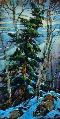 David Langevin bear valley with goats Landscape Art, Landscape Paintings, Watercolor Paintings, Painting Canvas, Pine Tree Tattoo, Tree Art, Painting Inspiration, Logo Inspiration, Artist Art
