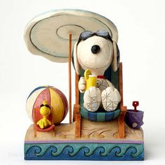 Jim Shore Peanuts Collection Snoopy and Woodstock at Beach 4049415 NEW