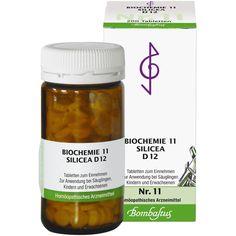 BIOCHEMIE 11 Silicea D 12 Tabletten:   Packungsinhalt: 200 St Tabletten PZN: 01074101 Hersteller: Bombastus-Werke AG Preis: 4,13 EUR…