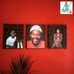 'Motown Men' 3 Piece Canvas Art Set #8x10 #StevieWonder #MarvinGaye #MichaelJackson #MotownRecords #youngmichaeljackson #afrocentric #homedecor #blacketsy #etsyshop #blackowned
