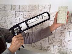Como instalar ecobrick na parede - Do Edu