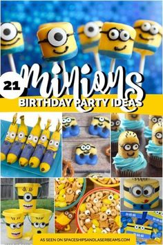 These 23 Minion Birthday Party Ideas collected by Spaceships and Laser Beams are truly inspirational.