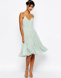 ASOS WEDDING Embellished Cami Midi Dress
