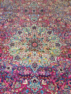 Gorgeous colourful persian rug.