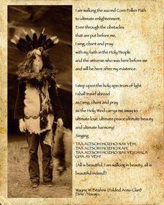 Navajo Dine Prayer for Thanksgiving