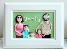 Custom family portrait family portraits cartoon by NicomadeMe
