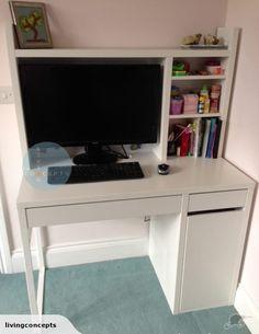 IKEA MICKE Desk Workstation Incl Desk U0026 Add On | Trade Me