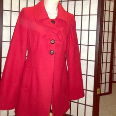 Red Ruffle Winter Coat from Old Navy-Size Small. Red Ruffle Winter Coat from Old Navy-Size Small. Used only a few times, but in great condition! Perfect coat to wear to an upcoming Holiday party ☃ No trades. Old Navy Jackets & Coats Pea Coats