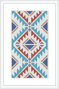 This Cross Stitch Pattern Geometric pattern Tribal cross stitch Modern cross stitch pattern Navajo Indian is just one of the custom, handmade pieces you'll find in our patterns & blueprints shops.Items similar to Modern cross stitch pattern Navajo cr Cross Stitch Geometric, Modern Cross Stitch Patterns, Cross Stitch Designs, Tapestry Crochet Patterns, Needlepoint Patterns, Embroidery Patterns, Needlepoint Belts, Needlepoint Stockings, Needlepoint Canvases