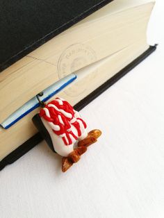 gifts for book lovers  Penguin funny bookmark // happy feet relevant // by Artypartisan