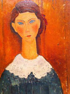 'portrait of a girl,' by amedeo modigliani Italian Painters, Italian Artist, Illustrations, Illustration Art, Amedeo Modigliani, Painting People, National Gallery Of Art, Art Moderne, Famous Artists