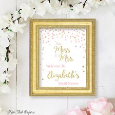 From Miss to Mrs Bridal Shower Welcome Sign  Bridal Shower
