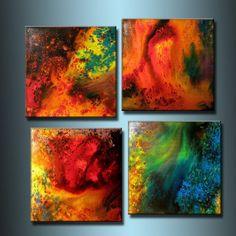 Abstract painting ORIGINAL Contemporary door newwaveartgallery