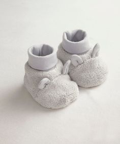 Unisex Welcome To The World Grey Faux Fur Booties - View All - Mamas & Papas