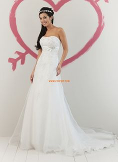 Sheath/Column Sweep/Brush Train Elegant & Luxurious Wedding Dresses 2014