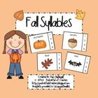 This center includes 36 picture cards with autumn themed words - includes back to school, fall, Halloween