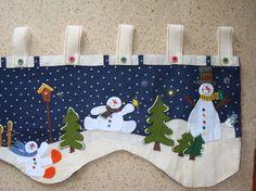 cenefas navideñas - Buscar con Google Christmas Mom, Christmas Sewing, Christmas Fabric, Christmas Stockings, Christmas Crafts, Xmas, Christmas Ornaments, Felt Christmas Decorations, Penny Rugs