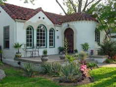 Small Mediterannean Home  Like This Color Scheme (grayish White With Green  Trim And Red. Spanish BungalowSpanish ColonialSpanish RevivalMediterranean  Style ...