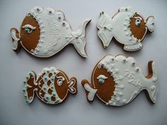 Perníky 2013 Easter Cookies, Birthday Cookies, Christmas Cookies, Christmas Ornaments, Spice Cookies, No Bake Cookies, Pie Cake, Cookie Designs, Sugar And Spice