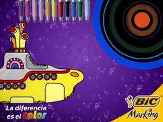 Del Blue monday al Purple rain y hasta el Yellow submarine, el rock siempre nos ha llenado la vida de color. #LaDiferenciaEsElColor #color #BICMarking #BIC #BICMarkit  #marker #markers #markerart #marcador #marcadores #fineliner #puntofino #ultrafinepoint #finepoint