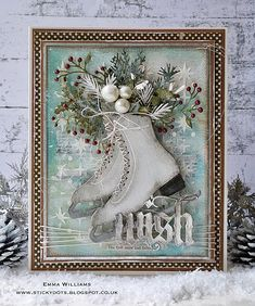 The First Snow Had Fallen - created by Emma Williams for Simon Says Stamp Monday Challenge using products by Tim Holtz and Sizzix