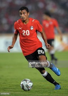 Hussam Arafat of Egypt in action during the FIFA U20 World Cup Round of 16 match between Egypt and Costa Rica at the Cairo International Stadium on...